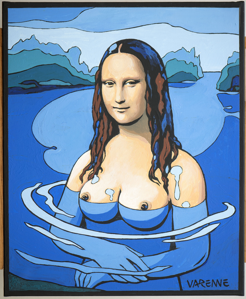 La Joconde Mona Lisa par Alex Varenne peintre et auteur de bande dessinée